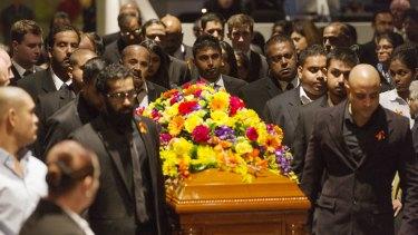 May 9, 2015: The funeral for Myuran Sukumaran in Sydney.