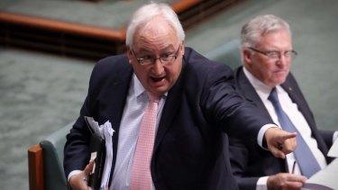 Labor MP for Melbourne Ports Michael Danby in Parliament.
