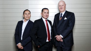 Help them thrive: Huy Truong, founding Deputy Chairman of Thrive, George Frazis - Chief Executive of Consumer Banking for Westpac Group and John Curtis, Founding Chairman of Thrive.