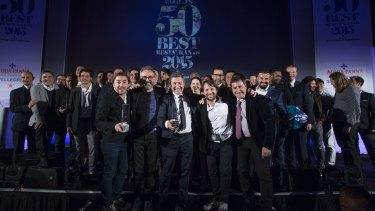 World's 50 Best 2015 winners including Massimo Bottura, Rene Redzepi and the Roca brothers.