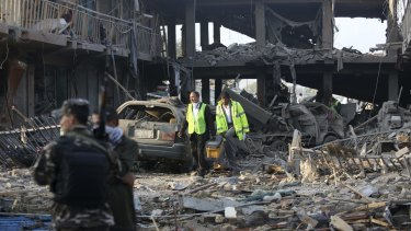 The devastation caused when a bomb hidden in a truck exploded near a Defence Ministry compound before dawn on Friday. Police chief Abdul Rahman Rahimi said all of the victims were civilians.