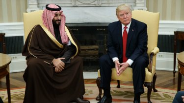 Then Saudi Defence Minister and Deputy Crown Prince Mohammed bin Salman in the Oval Office with US President Donald Trump in March.