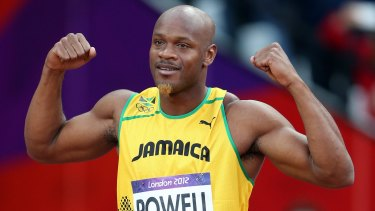 Former world 100m record holder Asafa Powell has received an 18-month suspension for a positive doping test in April last year.