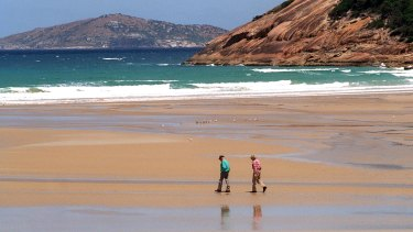 The tourist boat plan includes allowing them to beach at Norman Bay, in Wilsons Promontory.