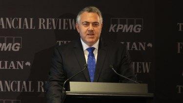 Treasurer Joe Hockey at his opening address at the National Reform Summit in Sydney.