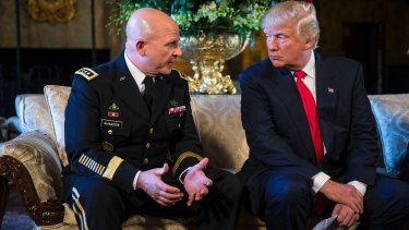 US President Donald Trump with his newly appointed National Security Adviser H.R. McMaster in February.