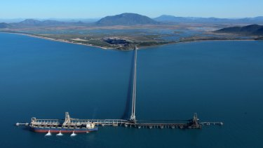 Abbot Point is surrounded by wetlands and coral reefs.