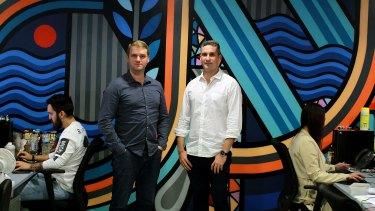 Prospa joint chief executives Beau Bertoli and Greg Moshal.