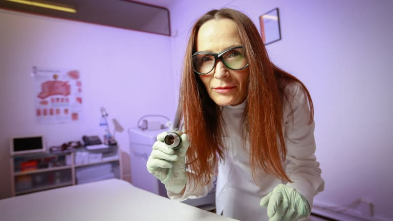 Laser technician Hilary Quinn says tattooing is back in fashion leading to steady business.