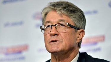 AFL chairman Mike Fitzpatrick was the subject of what may be the biggest strike against executive pay packets in corporate Australia on Thursday.