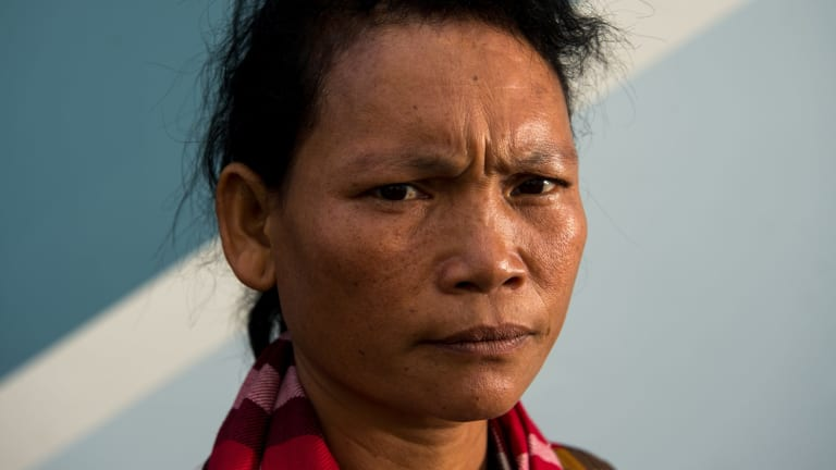 Camobodian Pheun Ra has been caught up in a land grab funded by the ANZ bank.