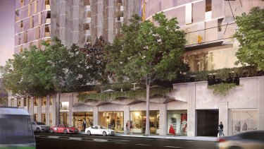 An artist's impression of the proposed development at 386-412 William Street.