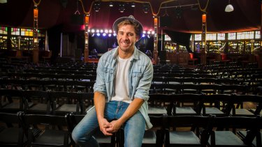 Hugh Sheridan is performing in the California Crooners Club at the Spiegeltent in Brisbane.