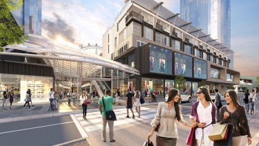 If you build it, will they come? An artist's impression of the redeveloped Harbour Town shopping centre, to be known as District Docklands.