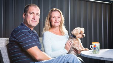 Marcus Lee, pictured with his wife Julie, has hit out at Turnbull government MP Stuart Robert.