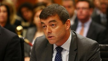 Pfizer Australia Chairman and Managing Director David Gallagher at the Senate inquiry into corporate tax avoidance.