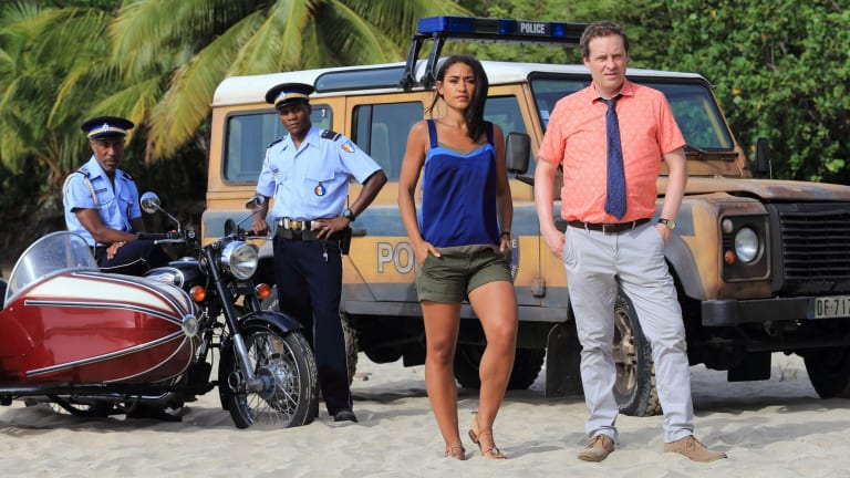 Dwayne (Danny John-Jules), JP Hooper (Tobi Bakare), Florence (Josephine Jobert), DI Jack Mooney (Ardal O'Hanlon).