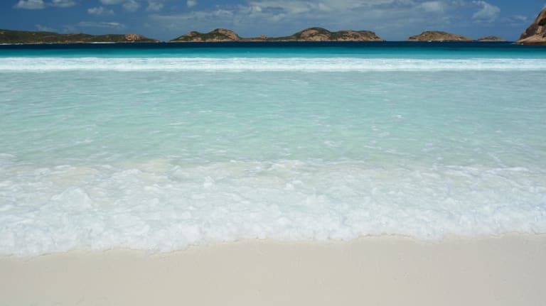Lucky Bay in Western Australia has been scientifically proven to have the whitest sand in Australia.