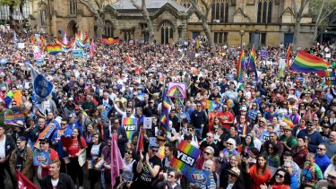 The task of the 'yes' campaign over same-sex marriage was to get out the message for people to vote.