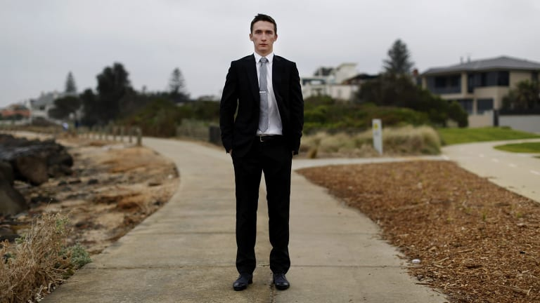 Tight times: Recent law graduate Liam Murray has been applying for jobs for three months.