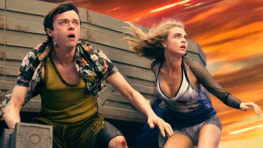 Dane DeHaan and Cara Delevingne in <i>Valerian and the City of a Thousand Planets</i>.
