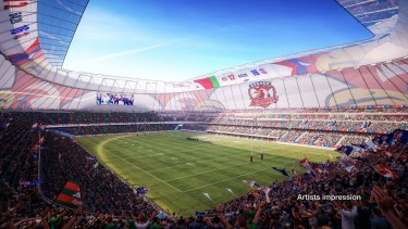 A supplied rendering of one of Sydney's proposed stadiums.
