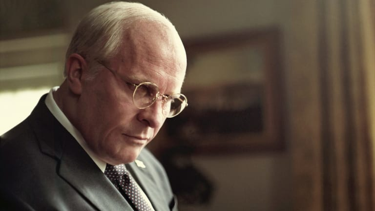 Christian Bale stars as Dick Cheney in Vice.