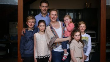 Barrister Bridie Nolan and her family at their Sydney home.