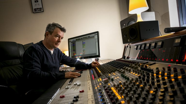 Colin Wynne's music recording studio in Brunswick is blessed with a fast NBN internet connection.