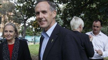 Bob Brown with Senator Lee Rhiannon, left, in Sydney in 2011.