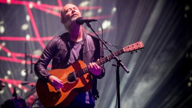 'Can you actually hear me now?' singer and guitarist Thom Yorke asked while performing at Coachella.
