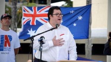 George Christensen speaking at  Reclaim Australia rally in 2015.