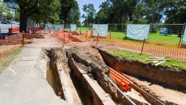Early works have begun on St Kilda Road.