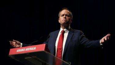 Opposition Leader Bill Shorten speaks during the ALP national conference in Melbourne.