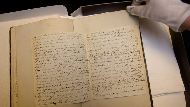 Elizabeth Gould's diary at the Mitchell Library in Sydney.