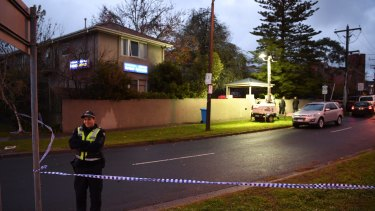 Police at the scene of the Brighton siege at Buckingham Serviced Apartments on Tuesday morning