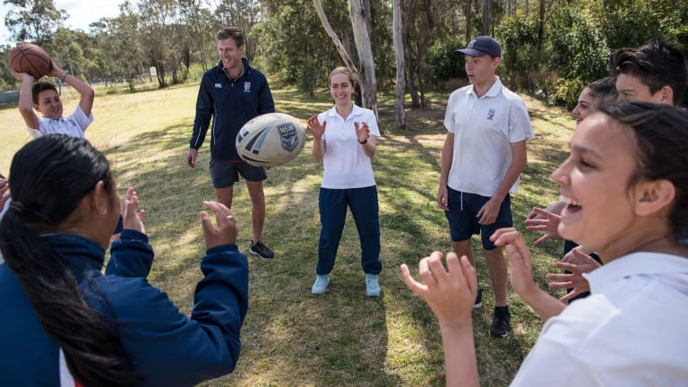 PDHPE teacher Kyle Churchill encourages students to regularly exercise.