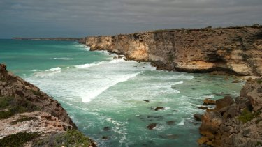 The Great Australian Bight off South Australia.