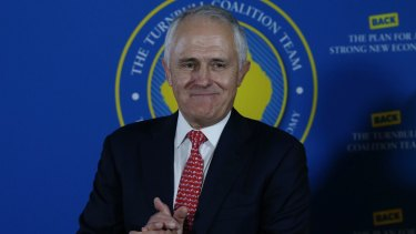 Prime Minister Malcolm Turnbull on the final day of the election campaign.