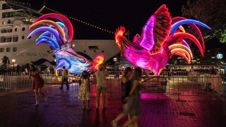 The Roosters by amigo and amigo, outside the the Overseas Passenger Terminal.