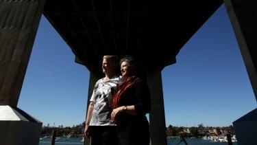 Fond memories: Bronwyn Best and Helen White revisit the Gladesville Bridge.