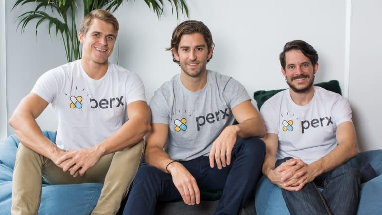 Perx team Scott Taylor, Hugo Rourke and Matthew Laird.