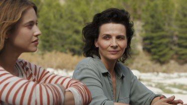 The delicate interplay between Lou de Laage (left) and Juliette Binoche is a highlight of <i>The Wait</I>.