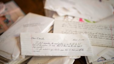 Some of the letters Danielle Laskie and Tim Wright exchanged.