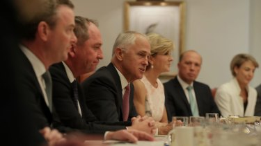 Malcolm Turnbull's cabinet has rallied behind his definition of the Liberal Party.