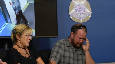 Carol Cloke, mother of murder victim David Dick, and brother Simon appeal for help in finding Mr Dick's killer.