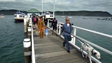 Boarding time on the Ettalong to Palm Beach ferry.