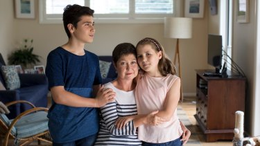 Wendy Favorito with her children Gabriella, 11, and Zachary, 13.