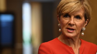 """I don't take it credibly"": Foreign Minister Julie Bishop has dismissed Donald Trump's attack on the Australia-US free trade agreement."