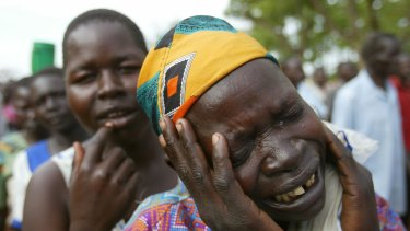 Sorrow and fear after the Lord's Resistance Army massacred at least 84 people in a village in northern Uganda in 2004.